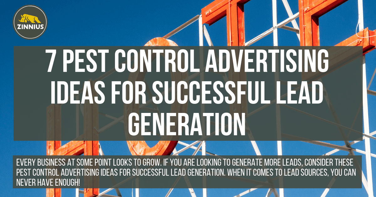 7 Pest Control Advertising Ideas for Successful Lead Generation