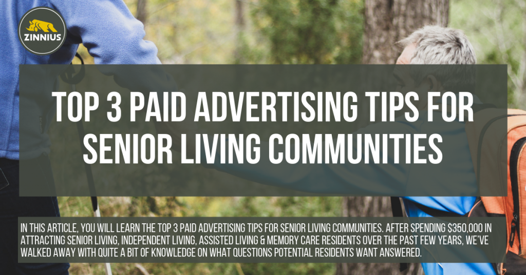 Top 3 Paid Advertising Tips For Senior Living Communities